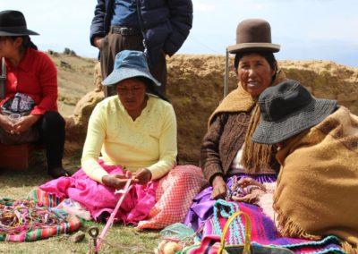 Tejiendo con el pueblo Aymara